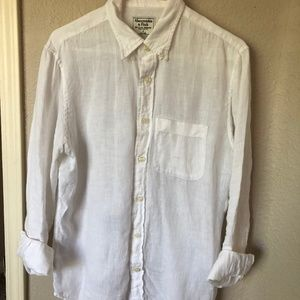 Abercrombie & Fitch Icon Linen Shirt